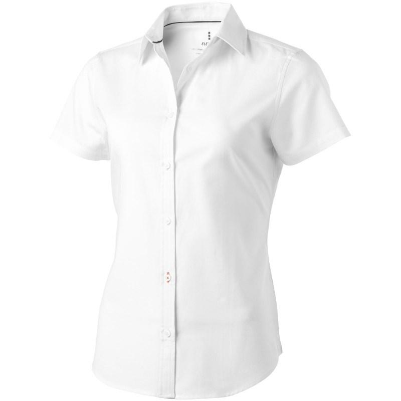 Manitoba oxford dames blouse met korte mouwen