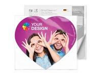 GripCleaner® 4-in-1 muismat hartvorm 23x20cm