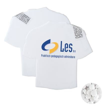 T-shirt mintdispenser wit