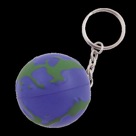 Anti-stress Wereldbol met sleutelhanger