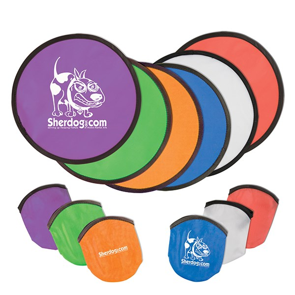Opvouwbare frisbee in pouch