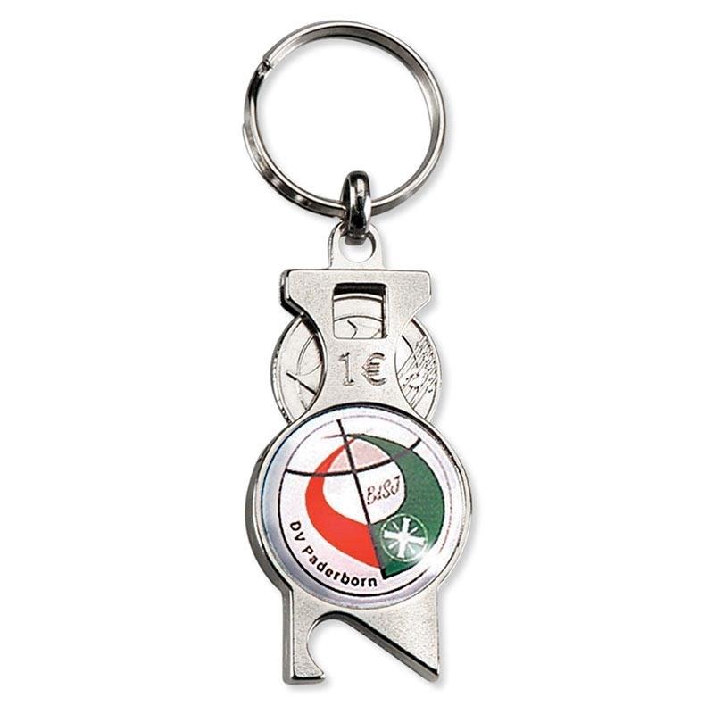 winkelwagenmunt- / munt-houder / sleutelhanger