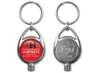 Kachelontluchter / Sleutelhanger met winkelwagenmuntje
