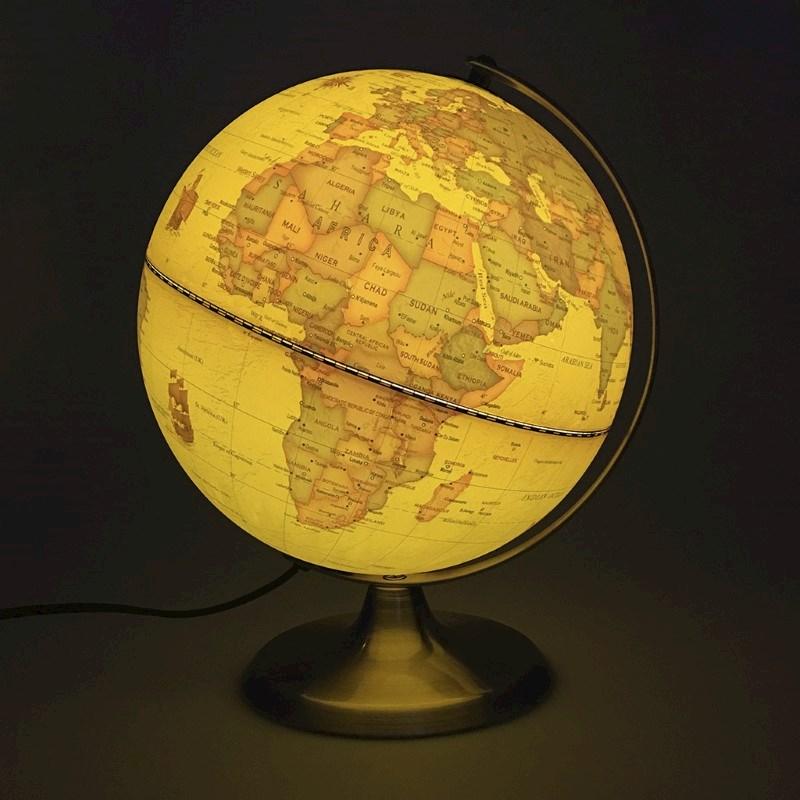 Wereldbol met licht