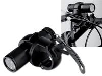 ELECTRA, metalen fietszaklamp met 9 led's en klip