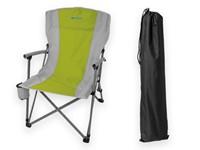 MOA ,Inklapbare campingstoel in polyester (600D), stale constructie en drinkhouder in textiel. Campingstoel wordt geleverd in een polyester zak met een handvat om transport te vergemakkelijken. Maximale lading van 120KG