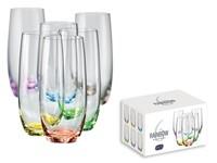 RAINBOW GLASS, 6-delige glazenset met een kleurrijke decoratie, 350ml