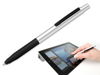 EMILIA, kunststof balpen - touch pen, blauwschrijvend