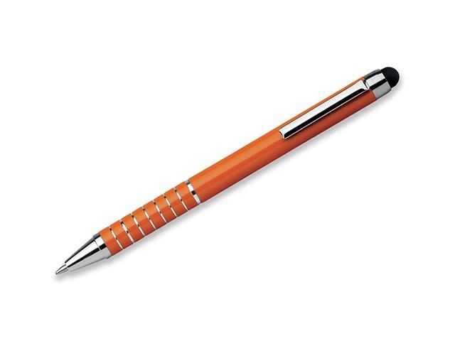 SHORTY, metalen balpen - touch pen, blauwschrijvend