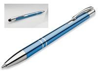 OLEG SLIM STYLUS, metalen balpen - touch pen, blauwschrijvend