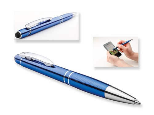 MARIETA TOUCH, metalen balpen - touch pen, blauwschrijvend, SANTINI