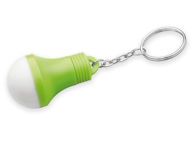 GLOAMIN, bolvormige kunststof sleutelhanger met led lampje