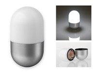 CAPSULE, kunststof 5 LED zaklamp capsulevorm