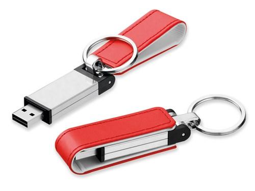 USB FLASH 46, USB FLASH 32 GB metalen and kunstleer, 2.0