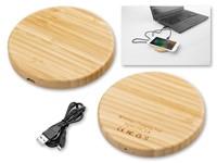 WOODER ,Draadloze houten oplader die Qi-technologie ondersteunt. USB / Misco USB-kabel meegeleverd.