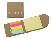 DEVITO, mapje met sticky notes, geel en gekleurd