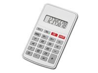 JASPER, kunststof 8-cijferige dual power calculator