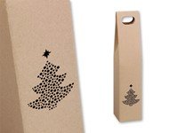 VIN BOX II ,Geschenkdoos voor 1 fleswijn met kerstboom