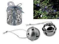 ROLLS ,Kerstdecoratie in metaal, 12 delige bellen.