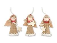 ANYELA MIX ,Kerstdecoratie in textiel. Een mix van 3 motieven - een plaatje van een specifiek