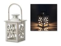 NALUCER ,Kandelaar in metaal voor de kerst in vorm van een lamp.