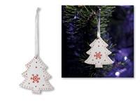 TREE CHARM ,Kerstdecoraties van hout om op te hangen