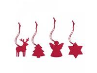 4-delige set met kerstboomhangers REFLECTS-TEJAR