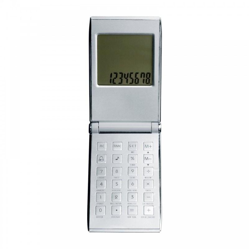 Calculator met wereldtijdenklok REFLECTS-PRATO