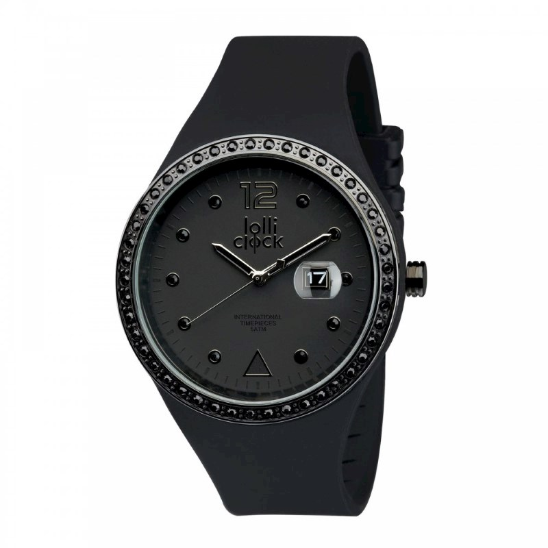 Polshorloge LOLLICLOCK-EVOLUTION BLACK CRYSTAL