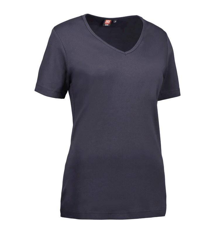 Ladies' interlock T-shirt | v-neck