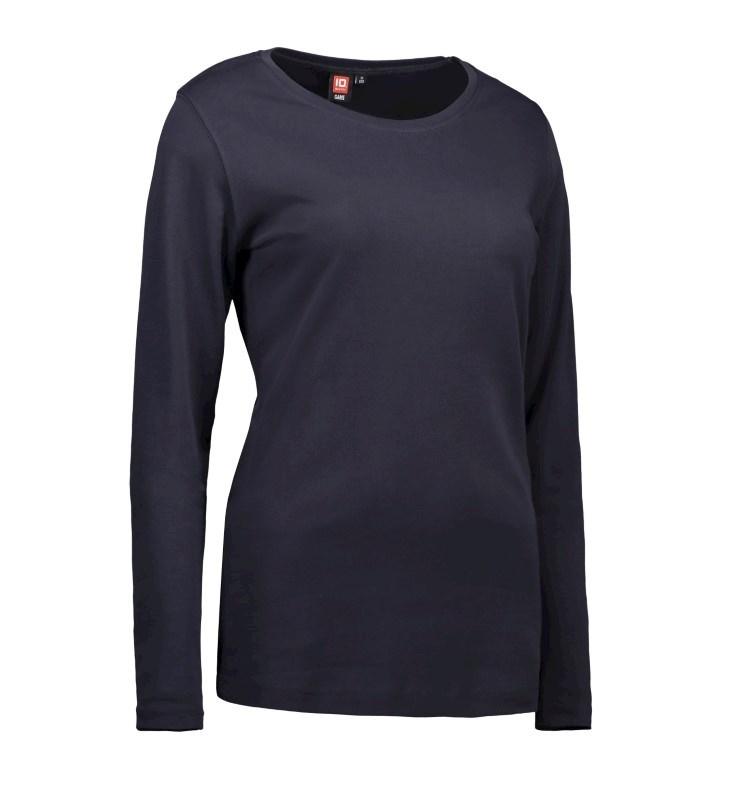 Ladies' interlock T-shirt long-sleeved