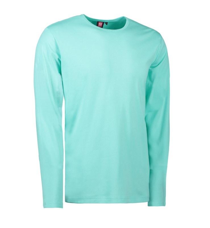 Mens' interlock T-shirt long-sleeved