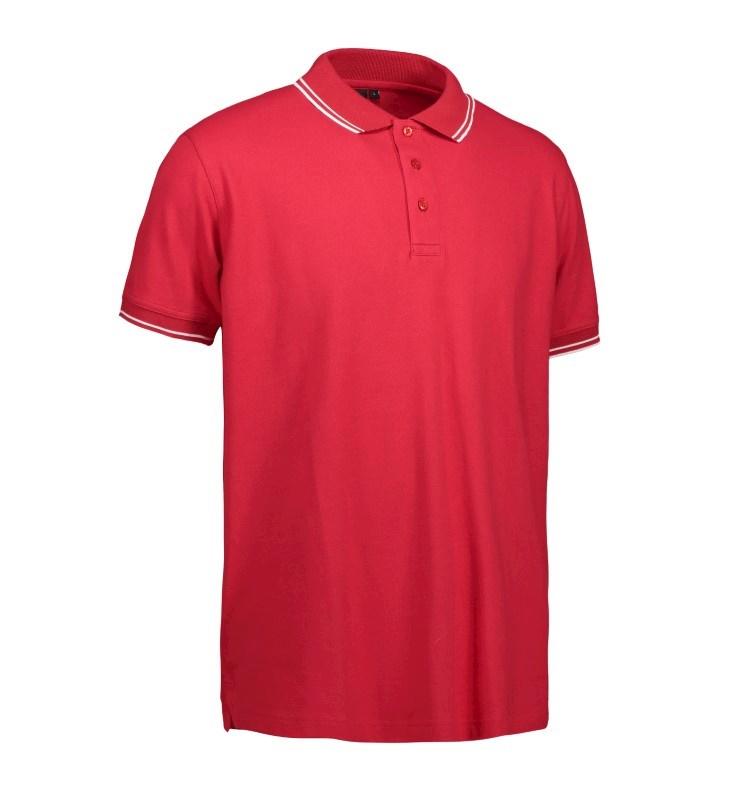 Stretch contrast polo shirt