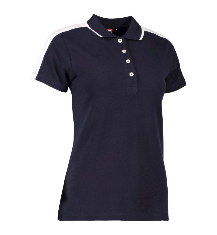 Ladies' polo shirt   contrast band