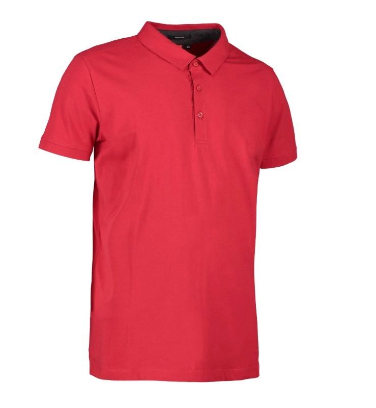 Men's business polo shirt   stretch
