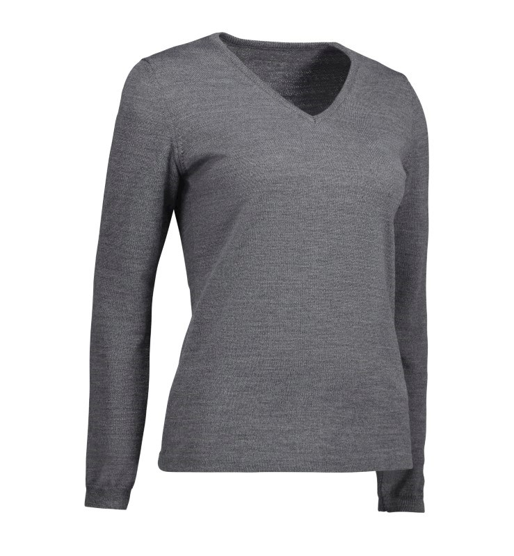 Durable V-neck ladies' pullover