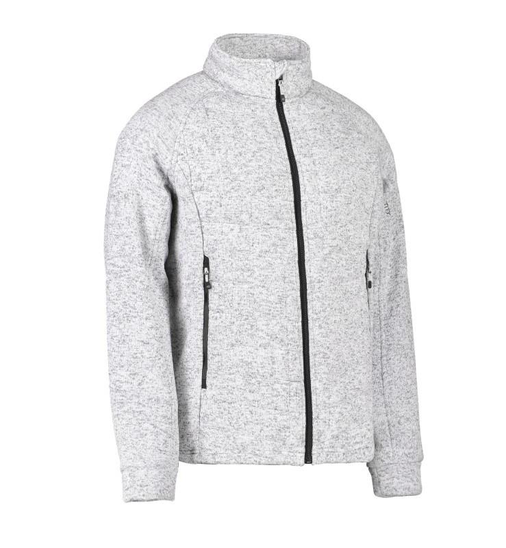 Men's quilted fleece jacket