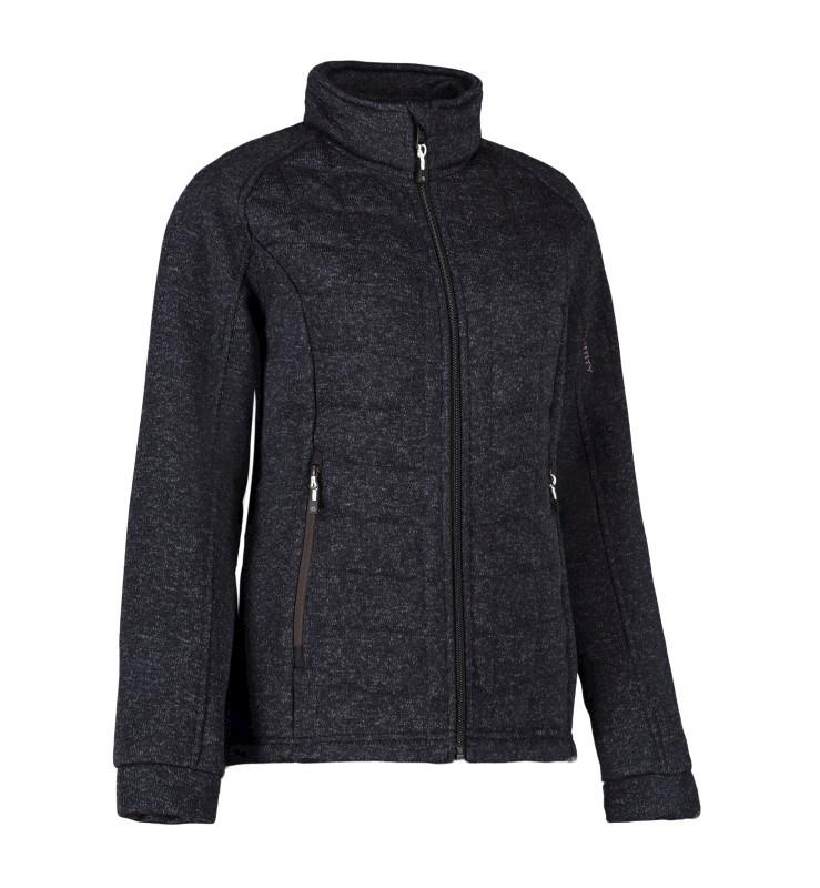 Ladies's quilted fleece jacket