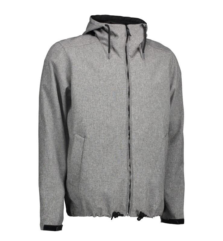 Men's casual soft shell jacket | hood