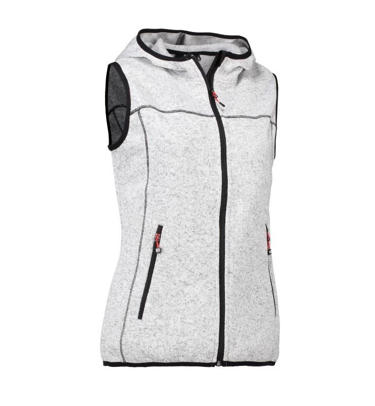 Ladies' knit fleece vest