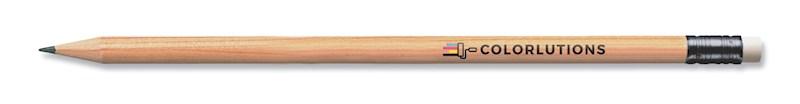 STAEDTLER rond potlood met gom zonder lak, gecertificeerd hout