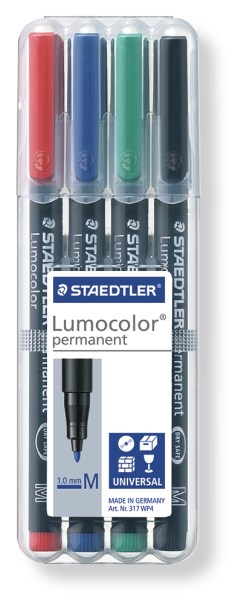 STAEDTLER doos met 4 Lumocolor permanents M