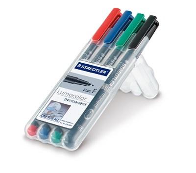 STAEDTLER doos met 4 Lumocolor permanents F