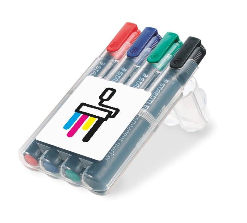 STAEDTLER doos met 4 Lumocolor permanent markers