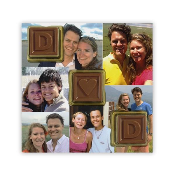 ChoCard Gift 3 ChocoBlokjes