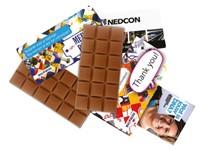 Chocolade reep met eigen ontwerp verpakking