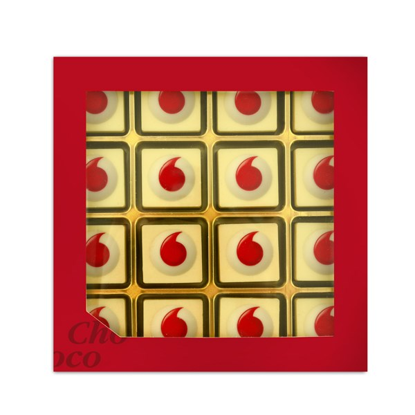 Giftbox met 16 logobonbons