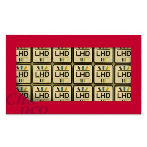 Giftbox met 18 logobonbons