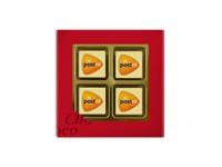 Giftbox met 4 logochocolaatjes