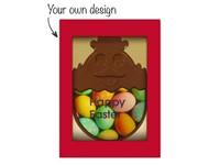 Chocolade kuiken met eigen ontwerp opdruk